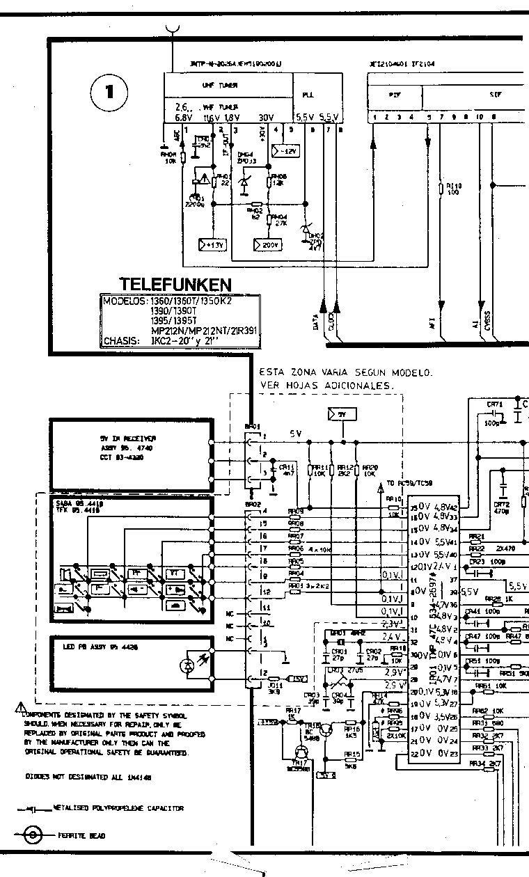 TELEFUNKEN TV CHASSIS 517-617 Service Manual free download