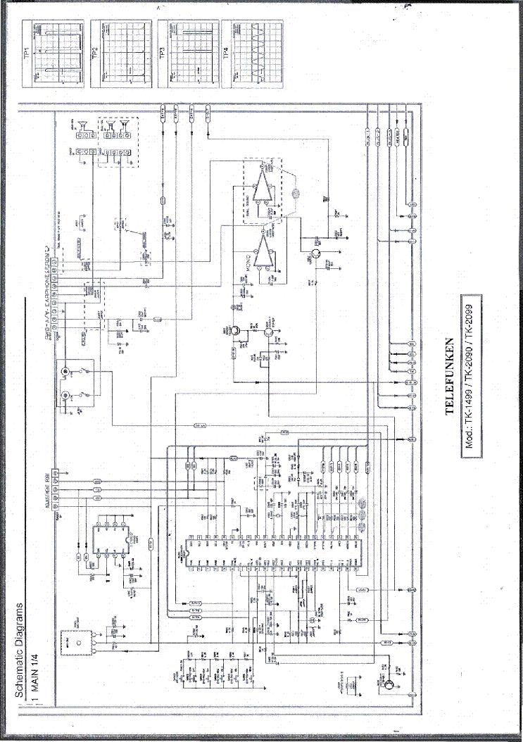 TELEFUNKEN TK 1499 TK 2090 TK 2099 SCH Service Manual