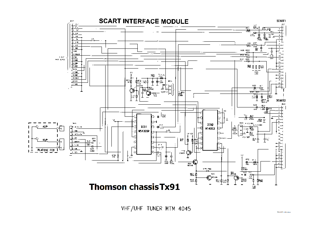THOMSON IDC2 CHASSIS TV Service Manual free download