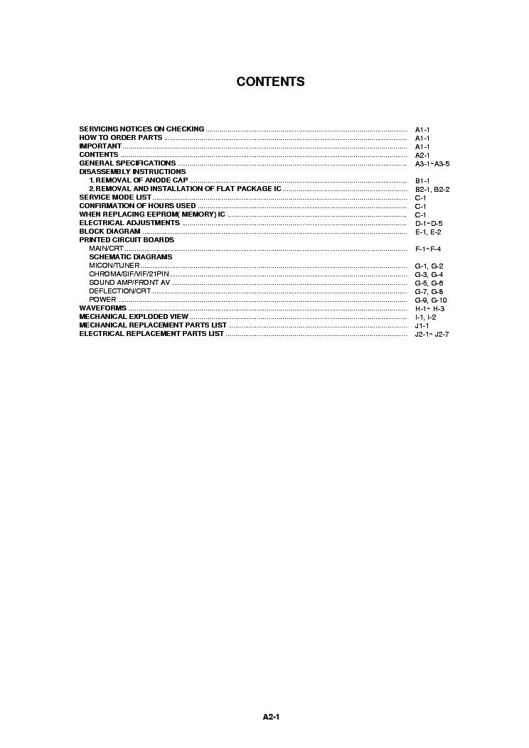 TOSHIBA 14N31B SM Service Manual download, schematics