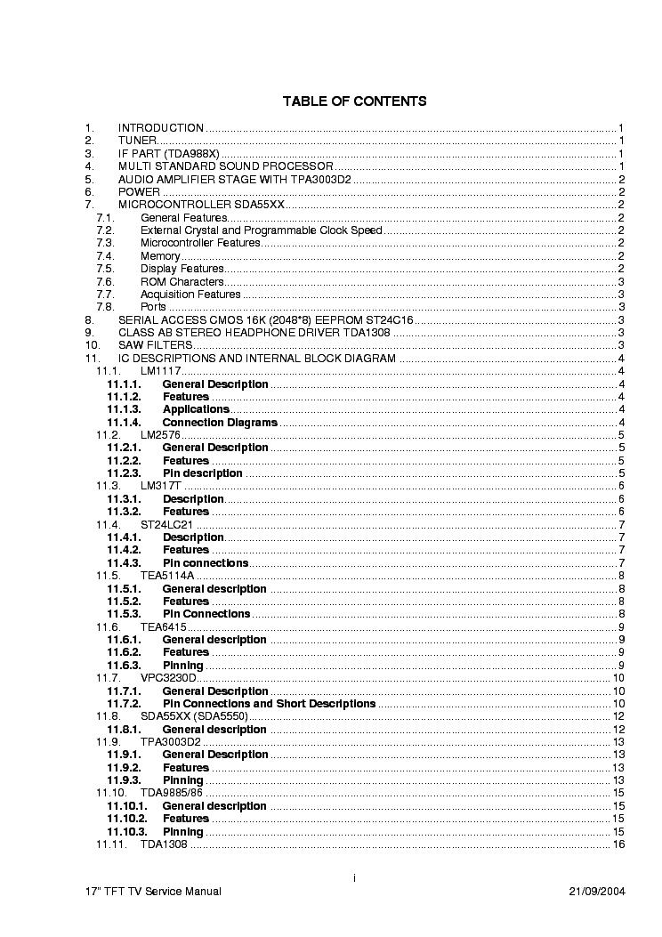 TOSHIBA 17WL46 23WL46 Service Manual download, schematics