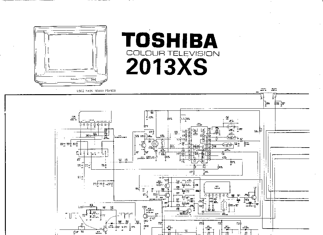 TOSHIBA 2013XS Service Manual download, schematics, eeprom