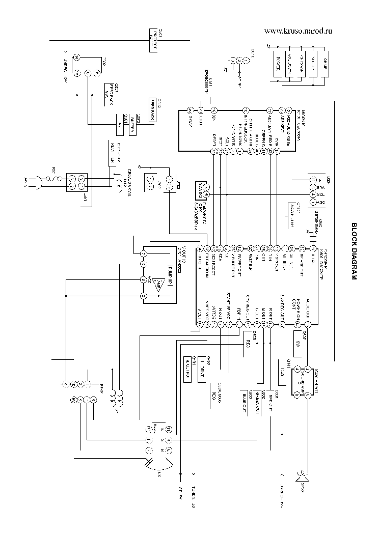 TOSHIBA 20AS21 Service Manual download, schematics, eeprom