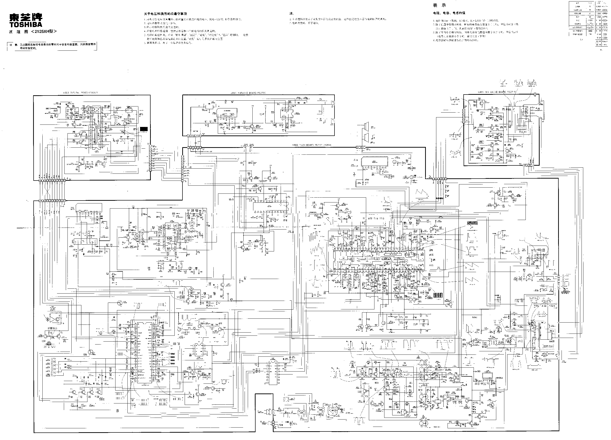 TOSHIBA 65HM167 Service Manual free download, schematics