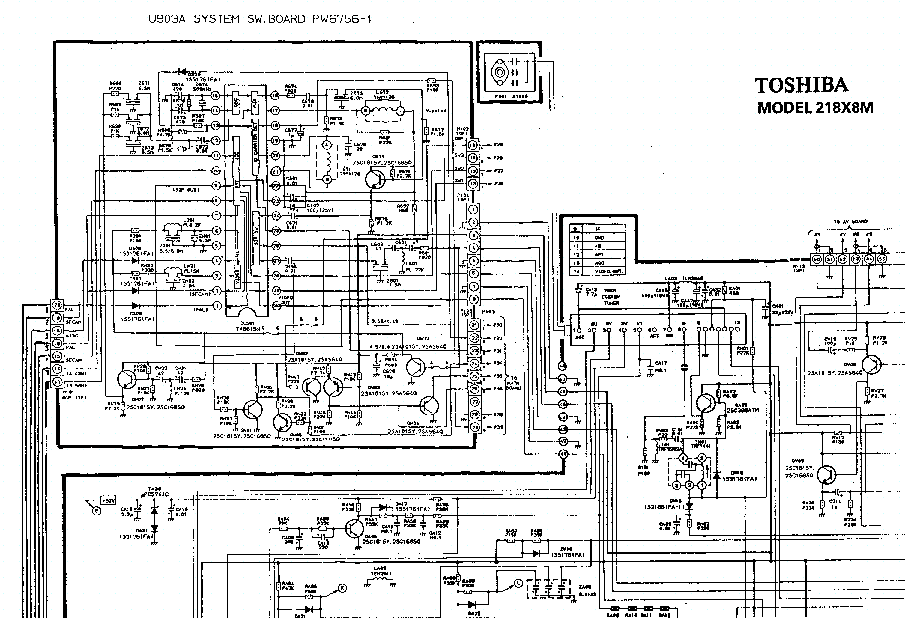 TOSHIBA 218X8 TV D Service Manual download, schematics