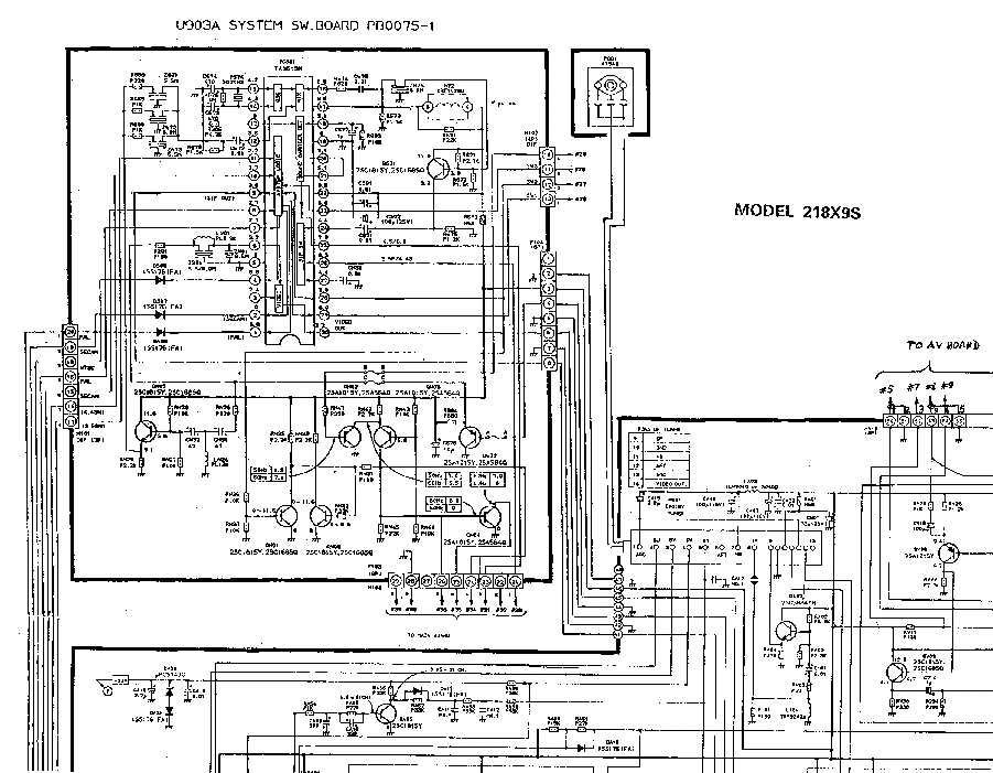 TOSHIBA 218X9 TV D Service Manual download, schematics