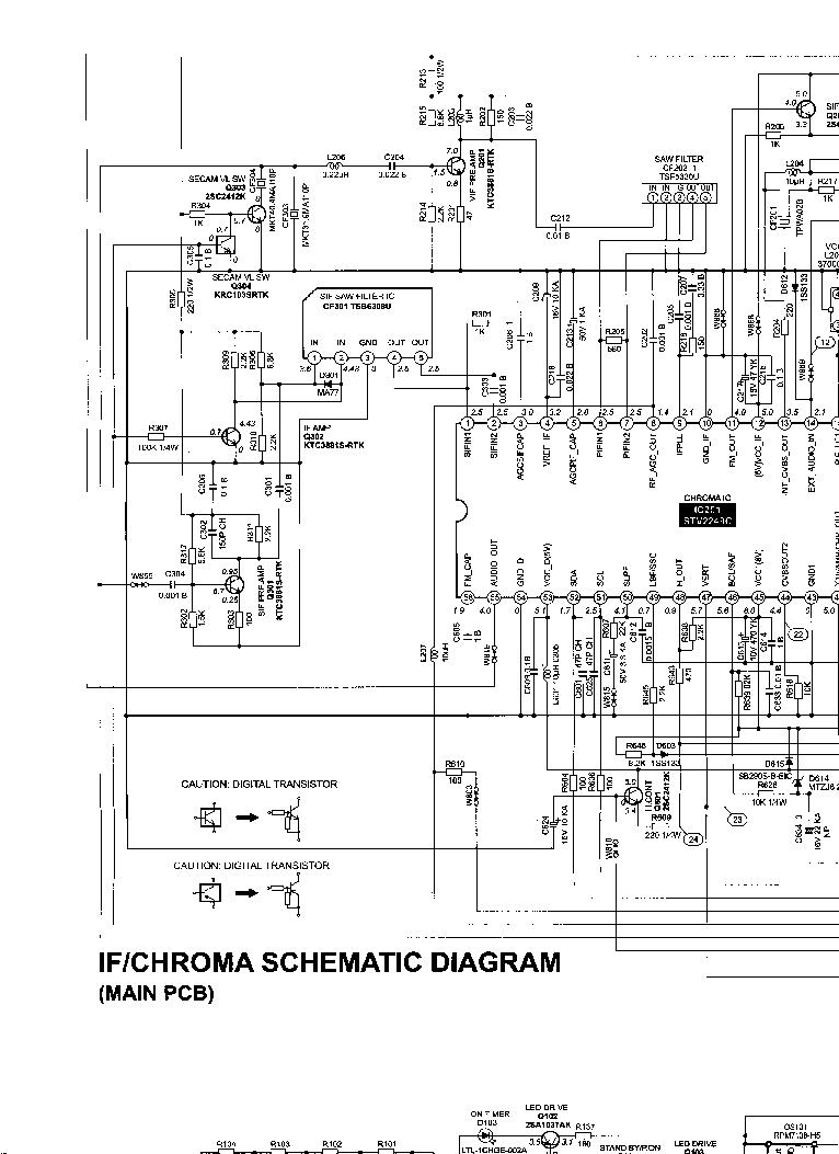 TOSHIBA 21N21F SCH Service Manual download, schematics