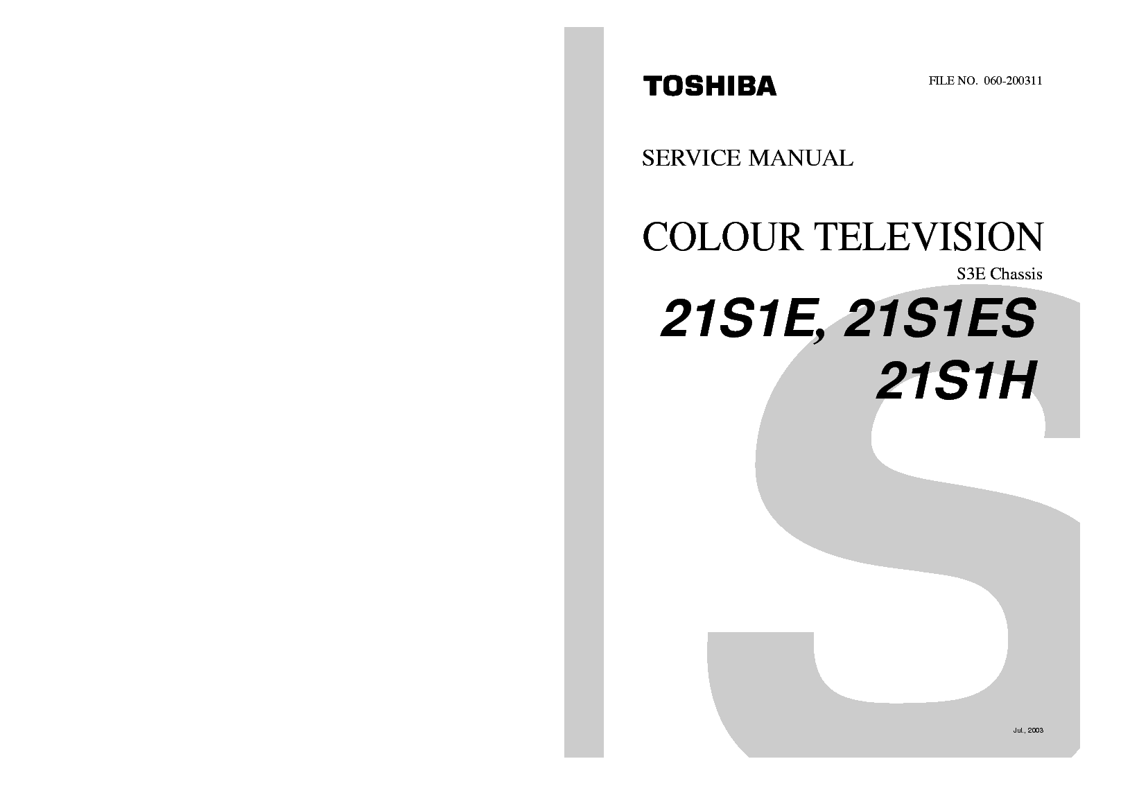 TOSHIBA VTV1402 TV-VCR USER MANUAL Service Manual download