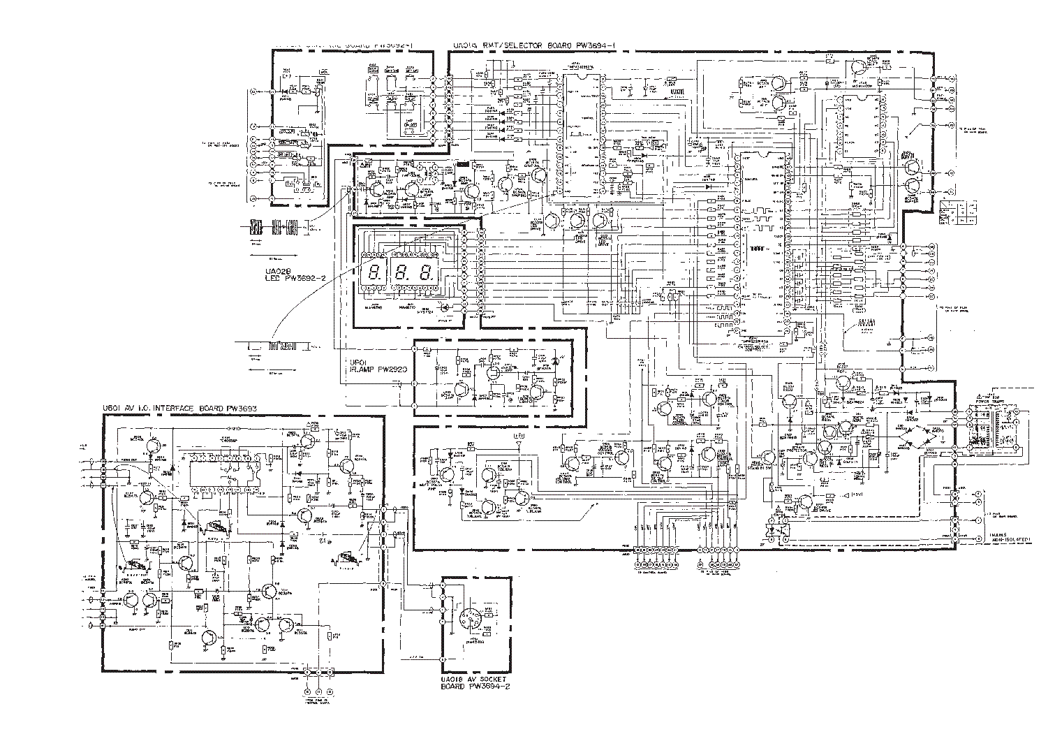 TOSHIBA 261F3W Service Manual download, schematics, eeprom