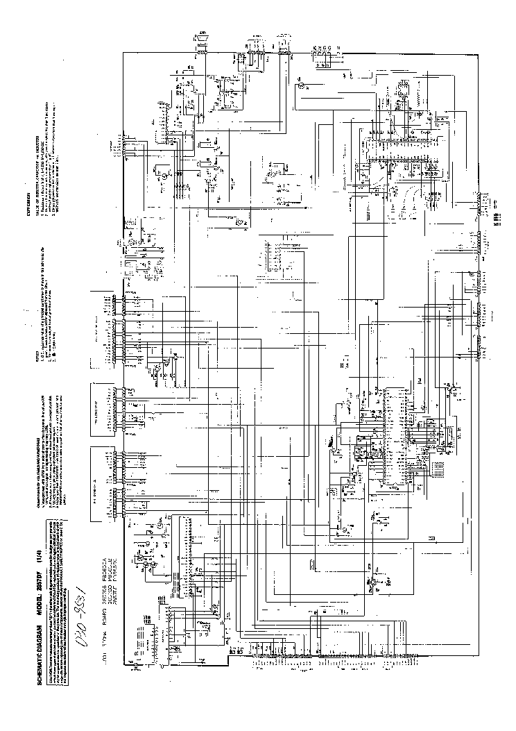 TOSHIBA 2857DF TV D Service Manual download, schematics