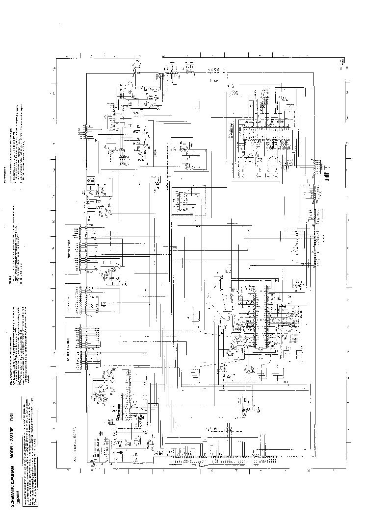 TOSHIBA 2887DF TV D Service Manual download, schematics