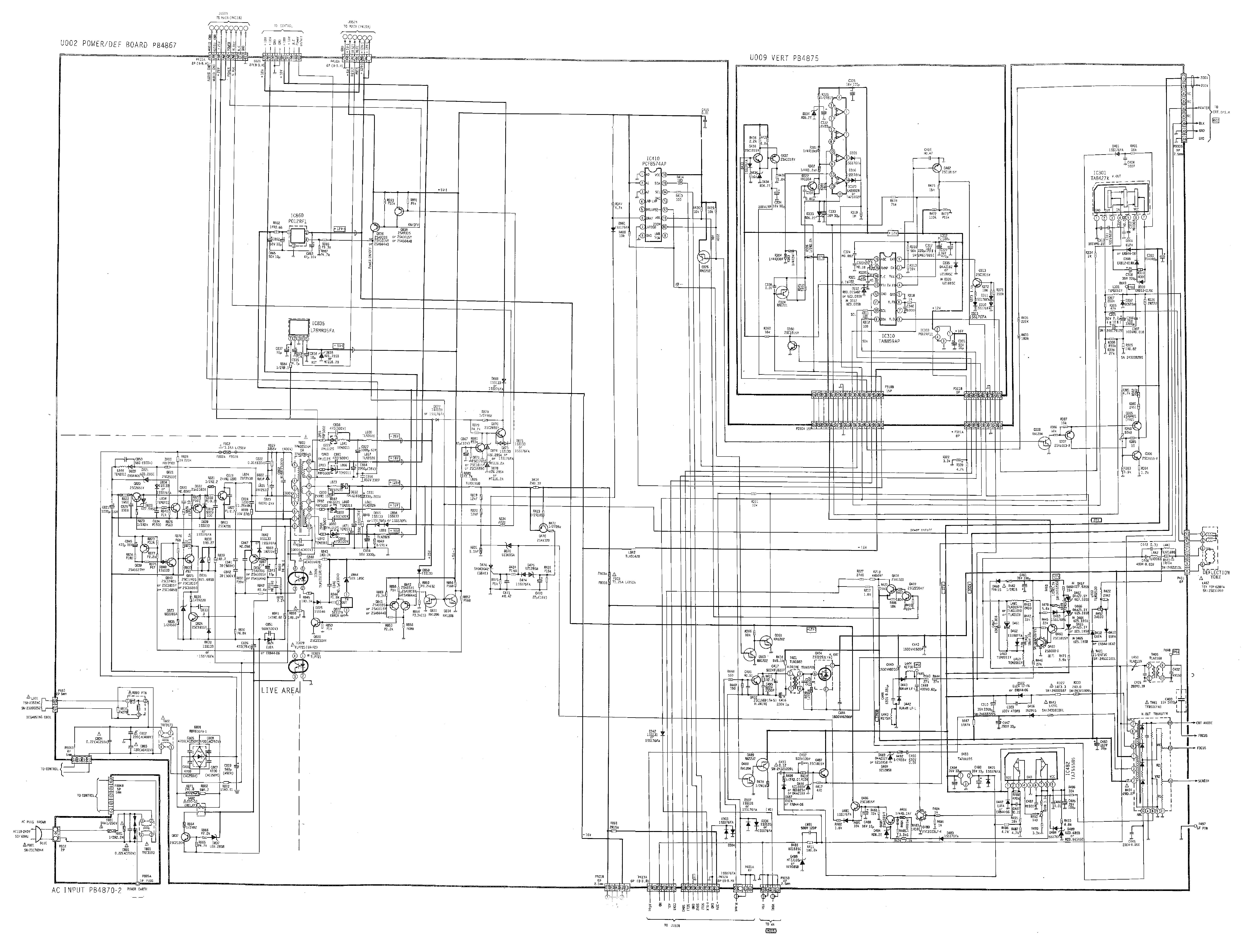 TOSHIBA 28W3DXH Service Manual download, schematics