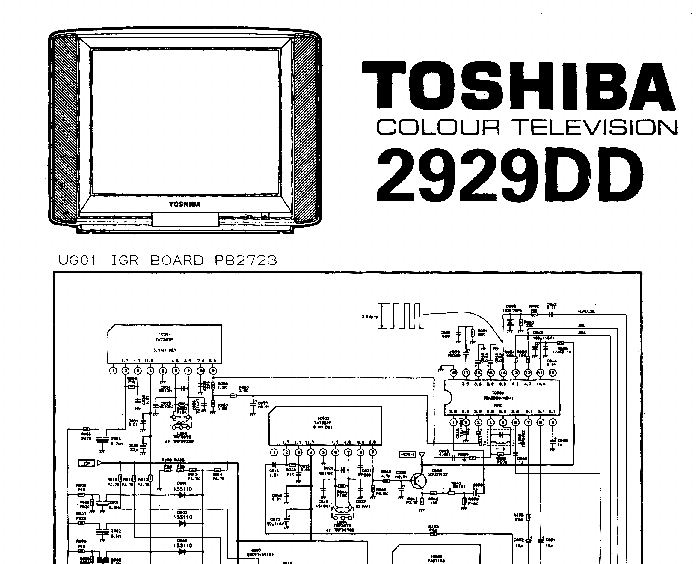 TOSHIBA 2929DD TV D Service Manual download, schematics