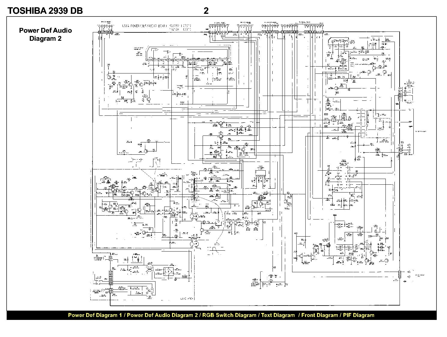 TOSHIBA 2939DB SCH Service Manual download, schematics