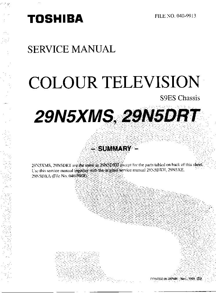 TOSHIBA 29N5DRT-29N5XMS Service Manual download