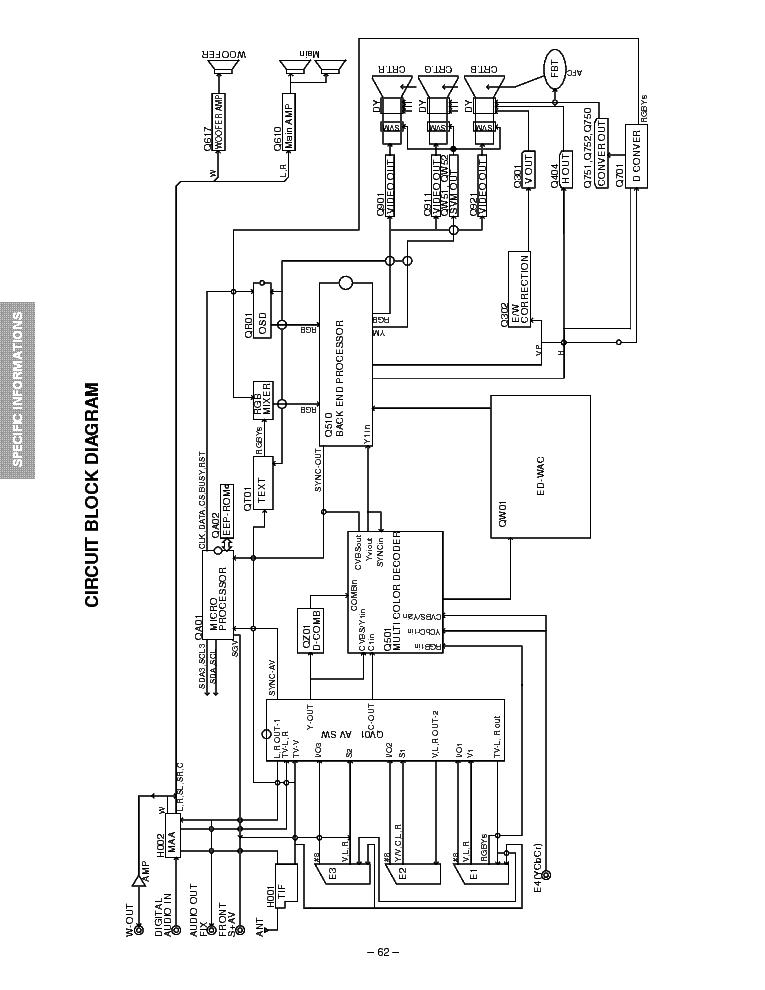 TOSHIBA 42PW23P SCH Service Manual download, schematics