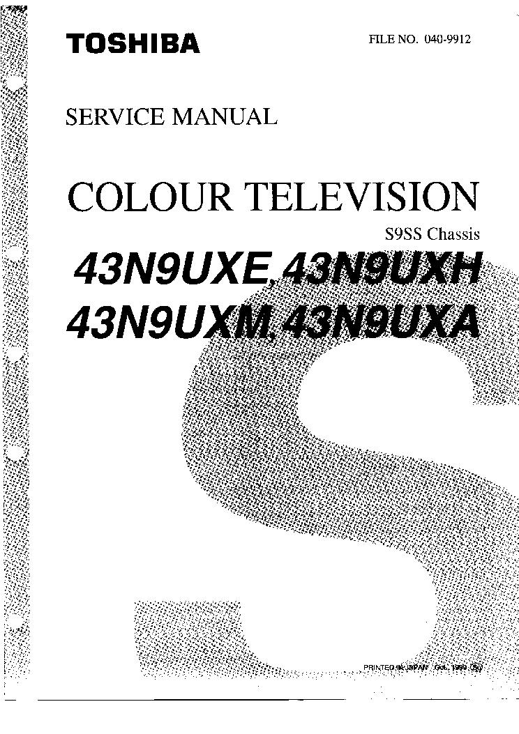 TOSHIBA CH U15 TV1491KAV TV2091KAV TV1495KM TV2095KM