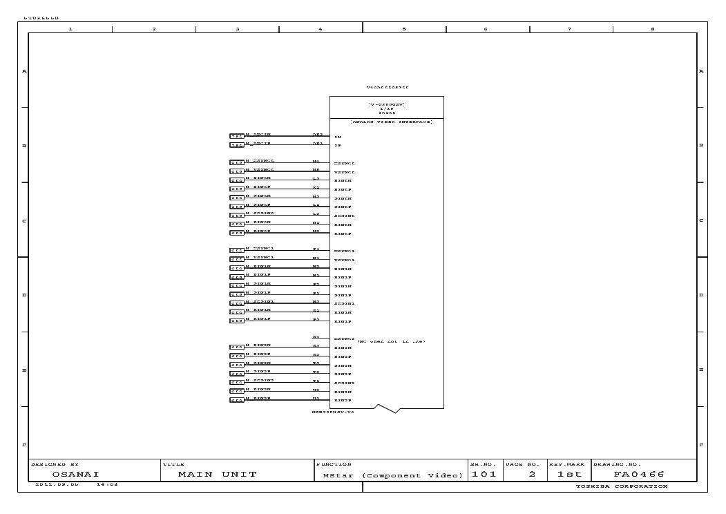 TOSHIBA 47XL975G SCHEMATIC Service Manual download