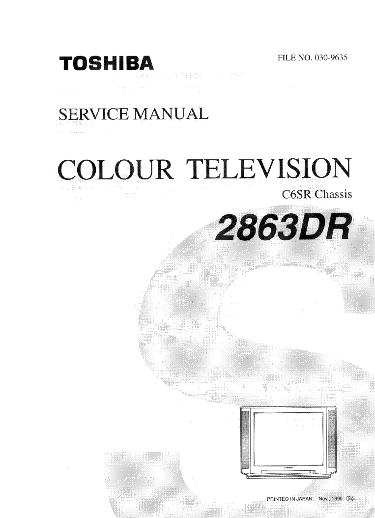 TOSHIBA 46HM94 PROJECTION TV SM Service Manual free