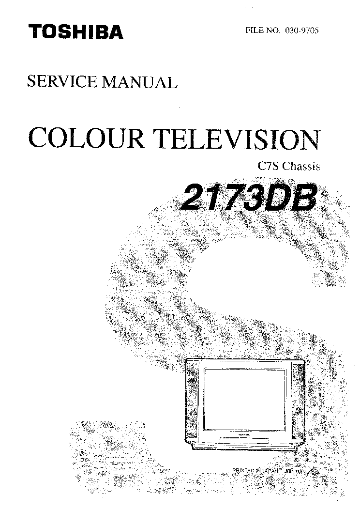 TOSHIBA C7S CHASSIS 2173DB TV SM Service Manual download