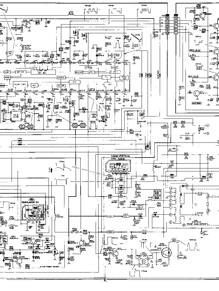 TOSHIBA TV-2070E Service Manual download, schematics