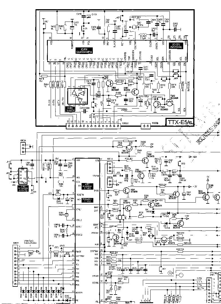 UNIVERSUM CHASSIS E5 Service Manual download, schematics
