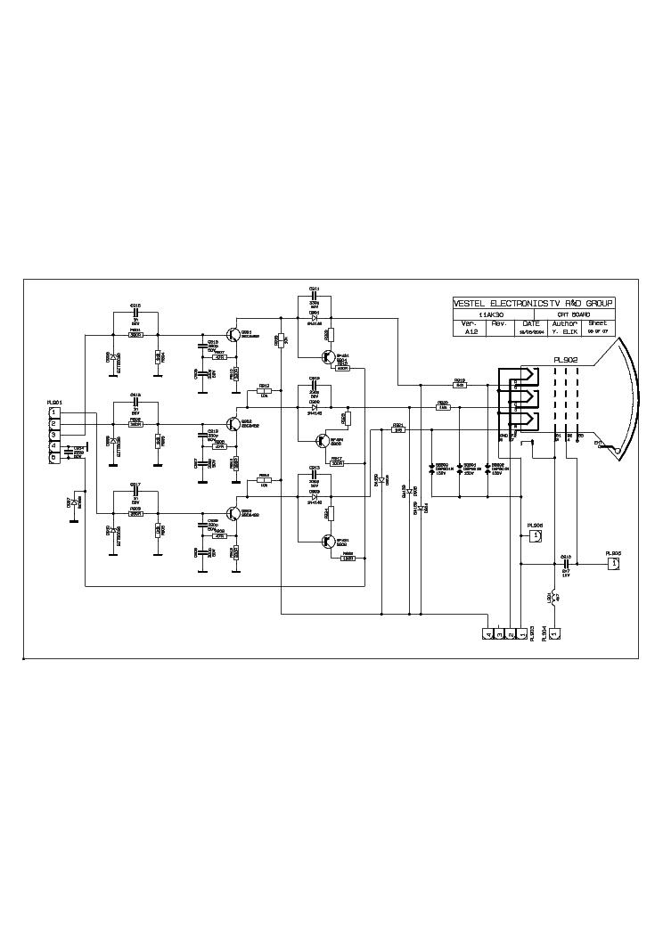 VESTEL 11AK30A14 ORION T2135 Service Manual download