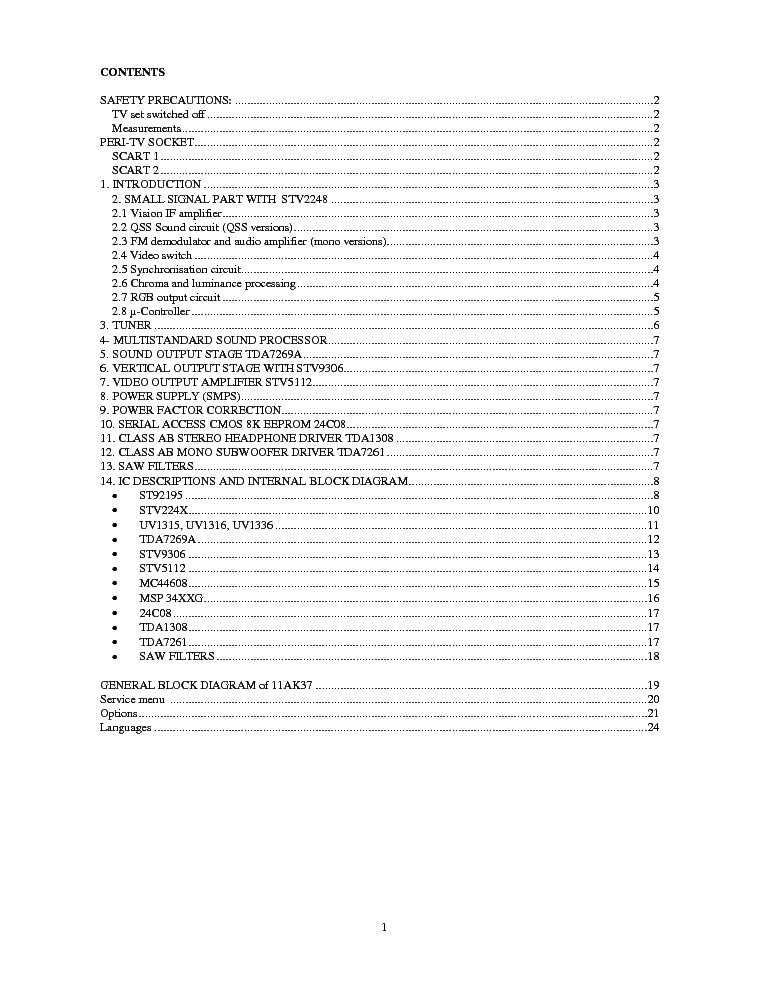 VESTEL 11AK36 CHASSIS SCH Service Manual free download