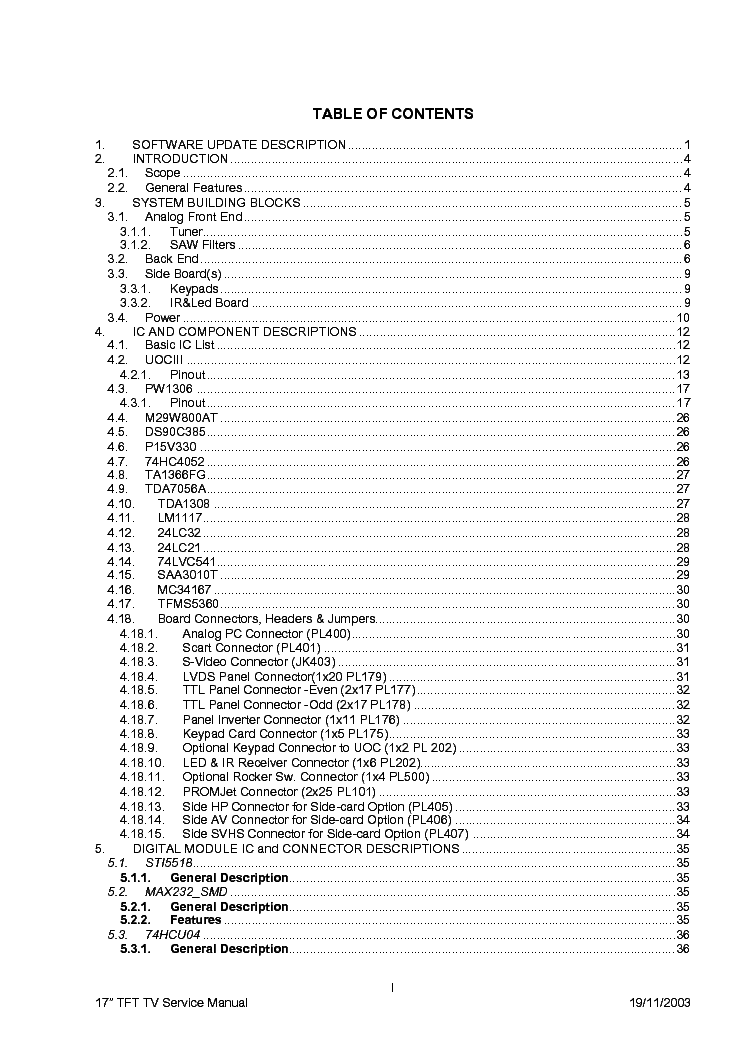 VESTEL 17MB18 20-TFT SM Service Manual download