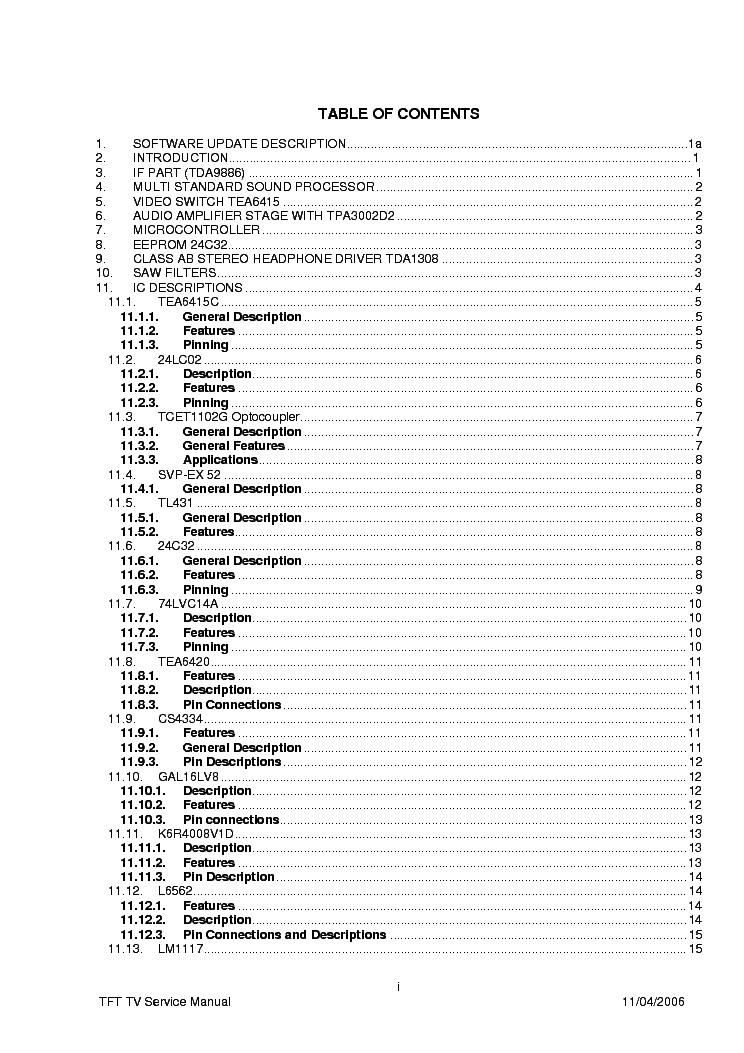 VESTEL LCD322 17MB15-E5 SM Service Manual download