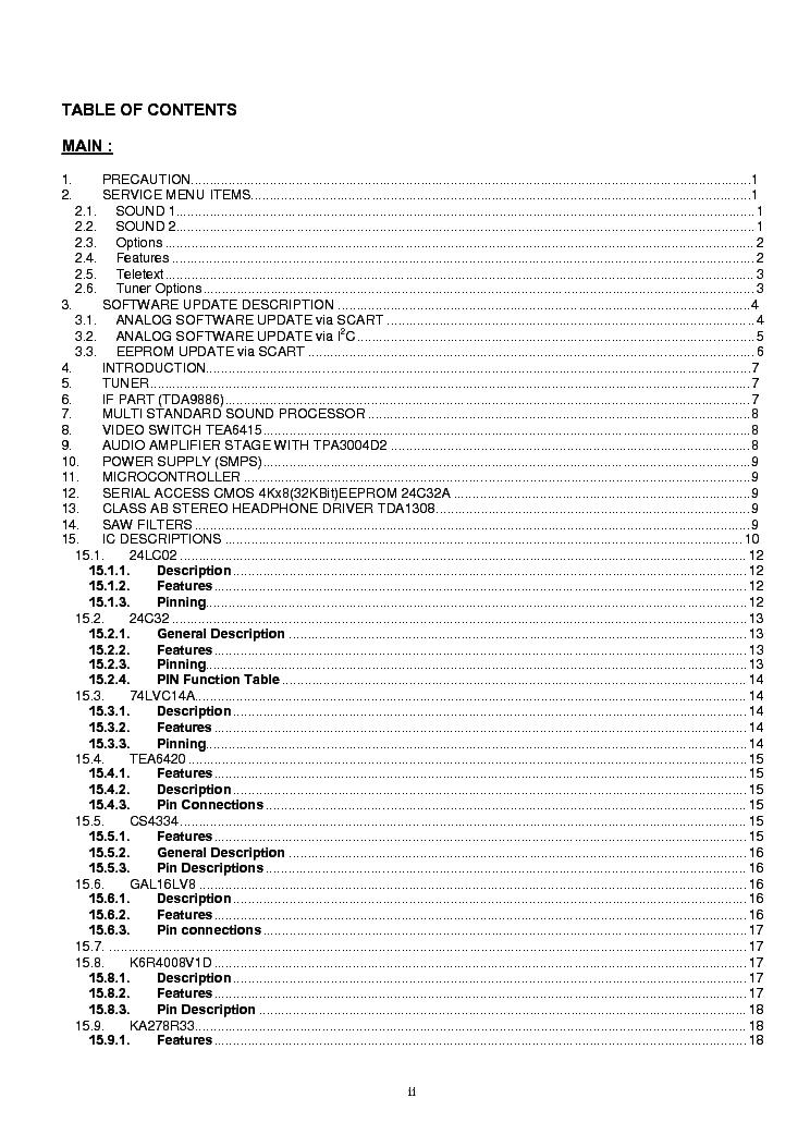 VESTEL PT32S 42TFT 17MB15E Service Manual download