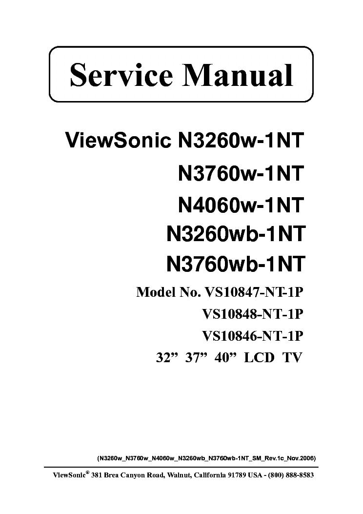 VIEWSONIC N3260W-1NT N3760W-1NT N4060W-1NT N3260WB-1NT