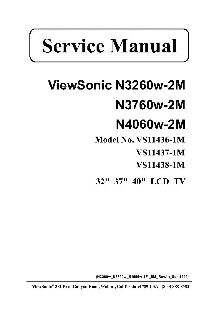 VIEWSONIC N3260W-2M N3760W-2M N4060W-2M VS11436-1M VS11437