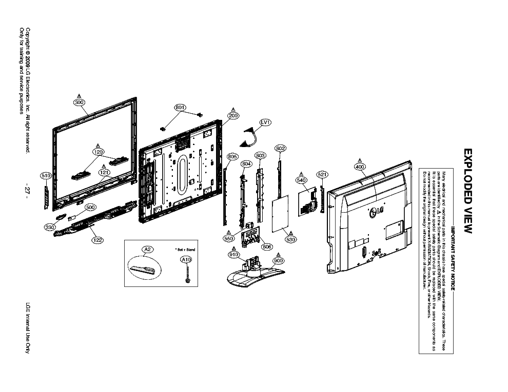 LG 42LH40 EXPLODED-VIEW Service Manual download