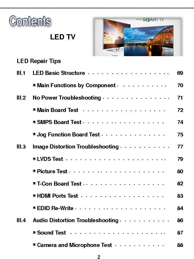 SAMSUNG LED-TV TROUBLESHOOTING 2013 Service Manual
