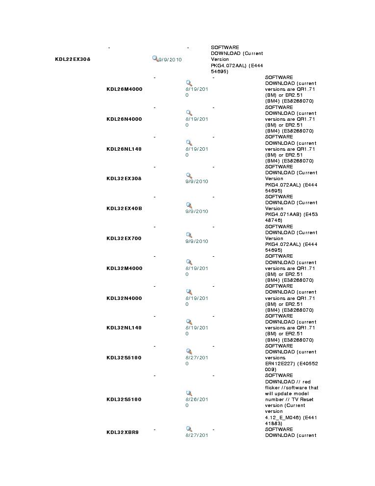 SONY KDL-22-26-32EX420 32-40-46EX520 22-26EX423 32-40