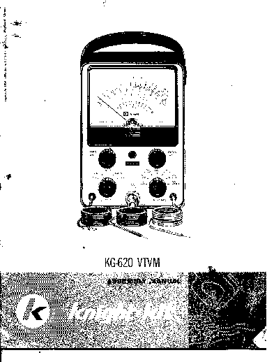 ALLIED RADIO CORP KNIGHT KG-620 VTVM Service Manual