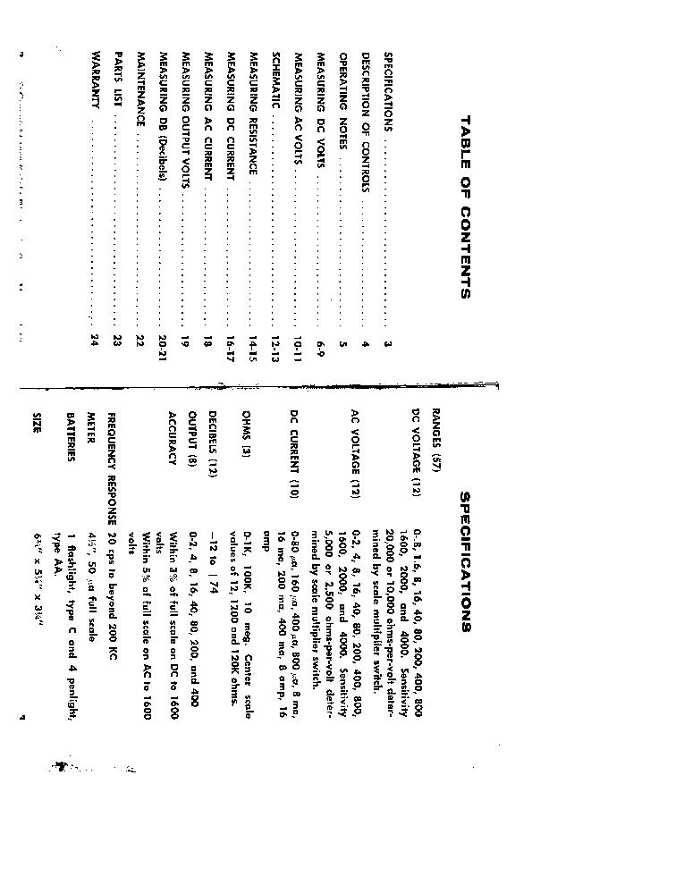 ALLIED RADIO KNIGHT KG-640 VOM Service Manual download