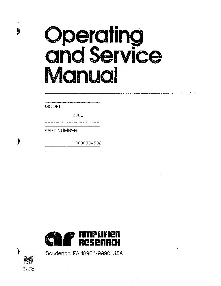 AMPLIFIERRESEARCH 200L-M5 1-200MHZ 200W-500W-PULSE PA 1976