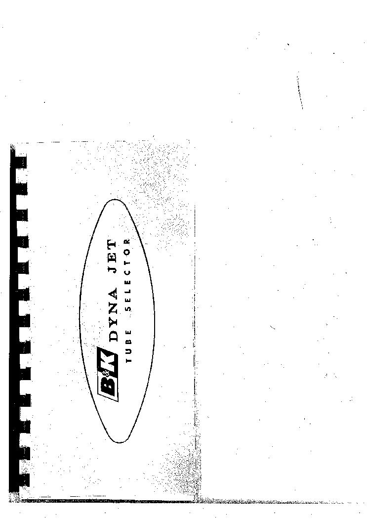 BK 606 TUBE TESTER TUBE CHART SM Service Manual download