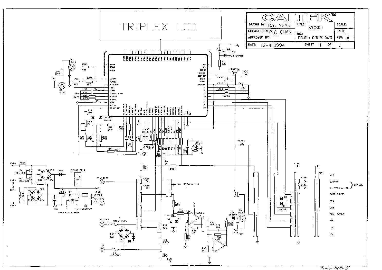 Analog Multimeter Circuit Diagram Wiring Diagram
