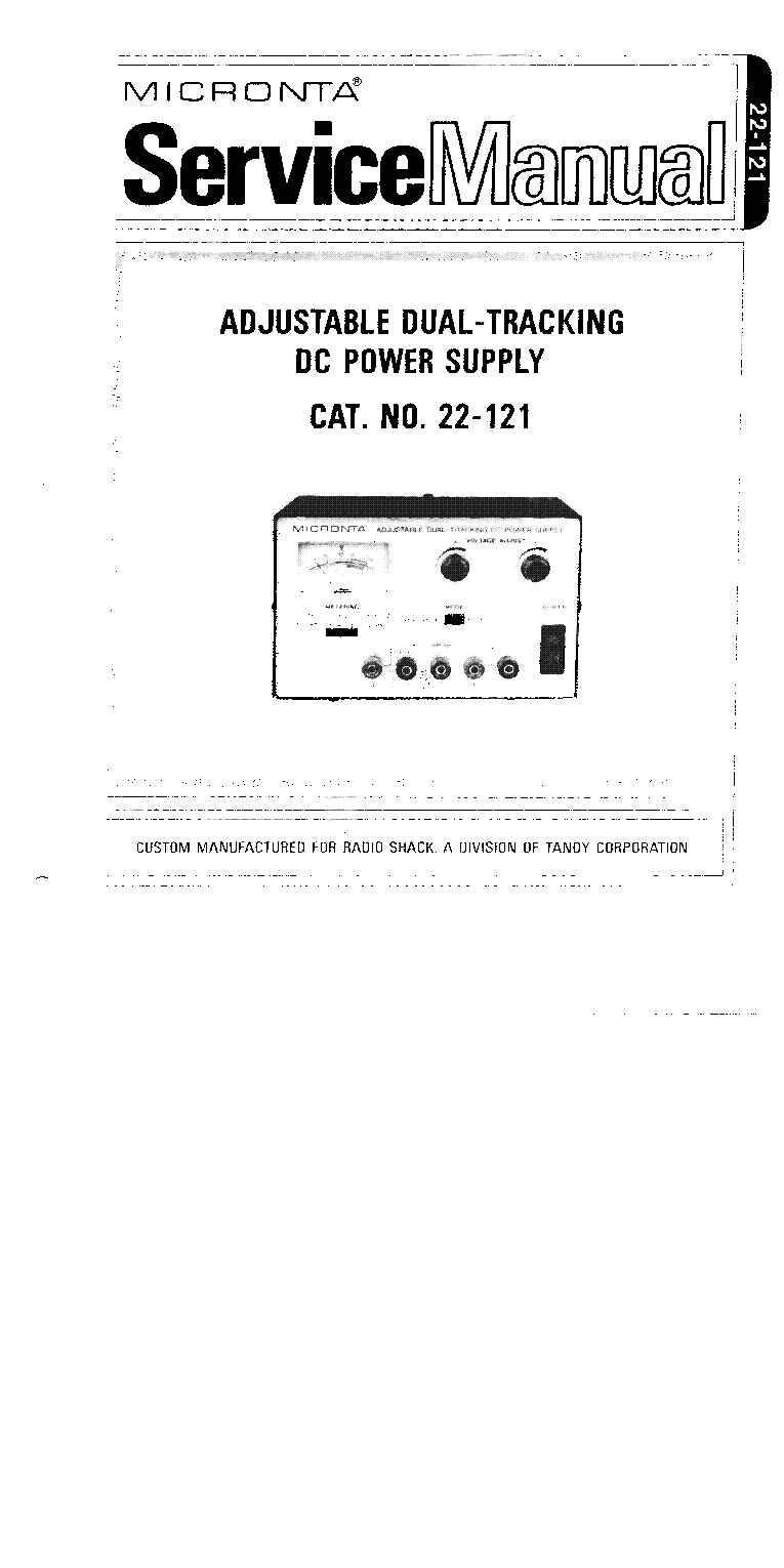 MICRONTA NO.22-121 DUAL-DC-POWER-SUPPLY SM Service Manual