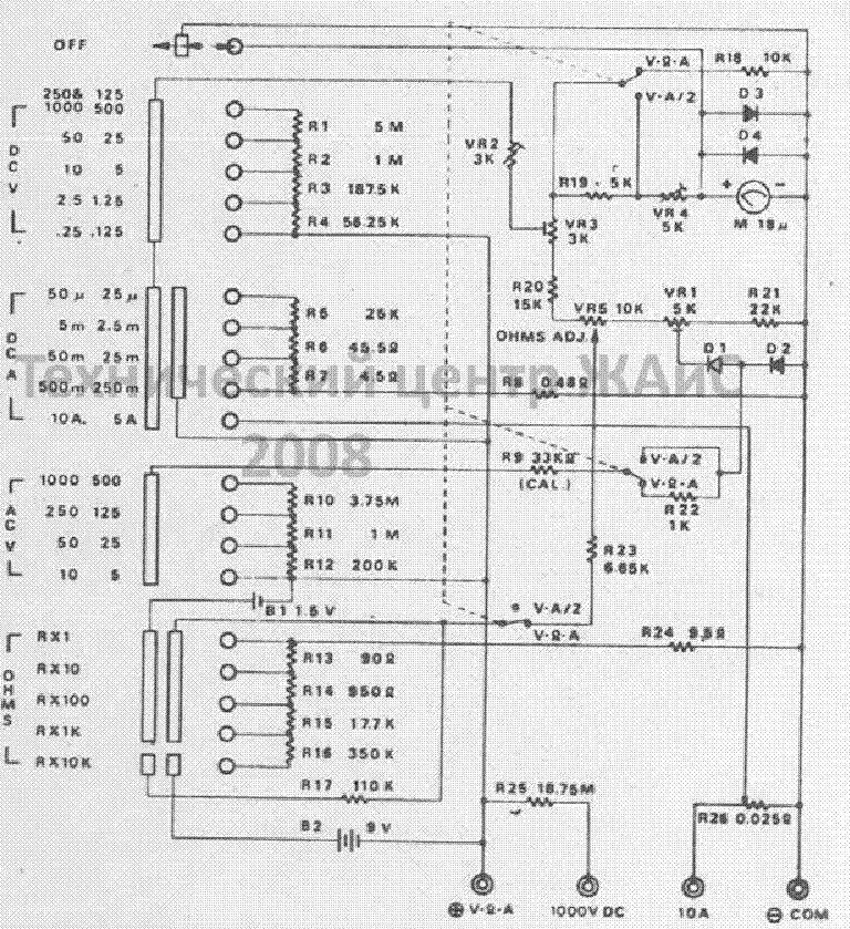 MULTIMETER 1000V DC ETU500 SCH Service Manual download