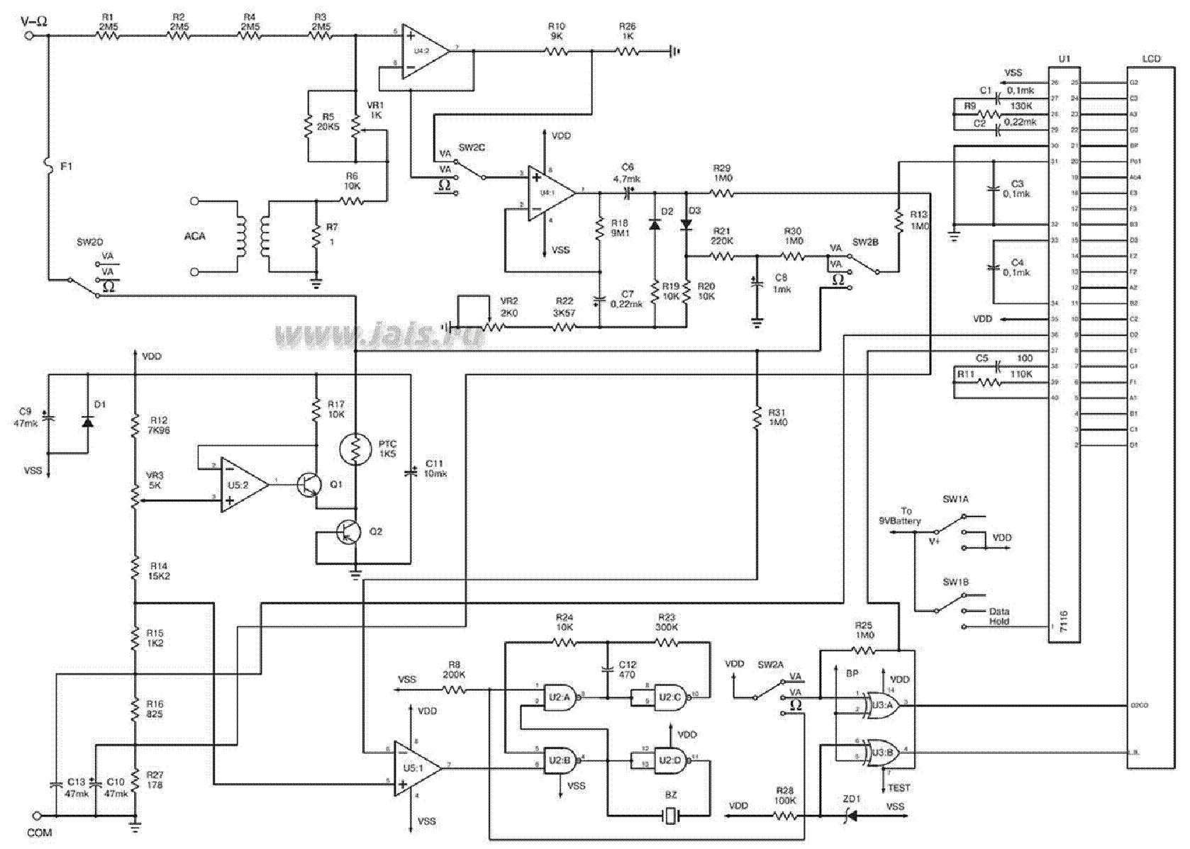 Multimeter M890c Plusz Sch Service Manual Download