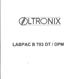 oltronix labpac b 703 dt dpm sm service manual 1st page  [ 763 x 1053 Pixel ]