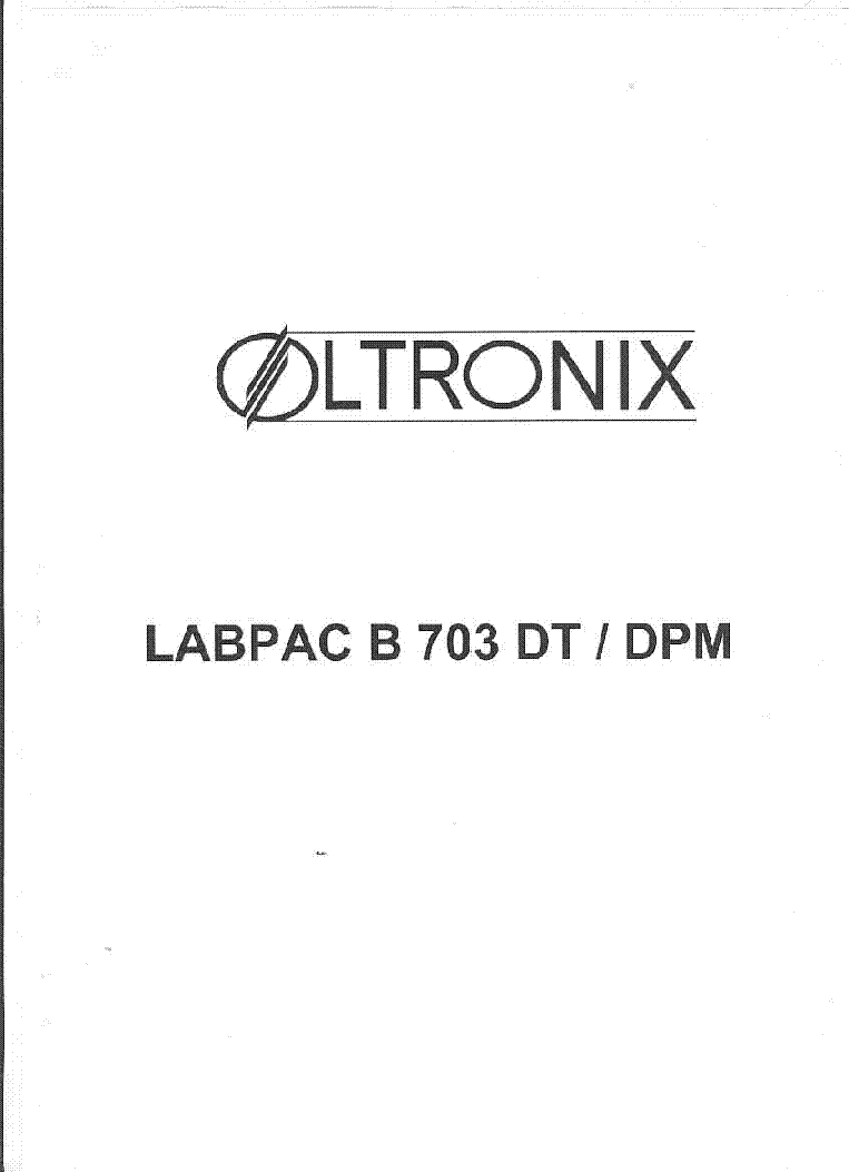 hight resolution of oltronix labpac b 703 dt dpm sm service manual 1st page