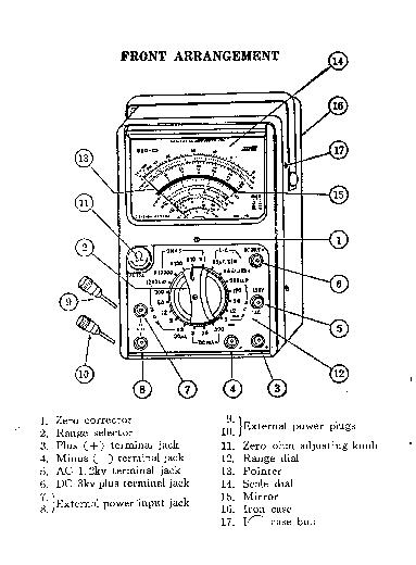 SANWA 380 CD MULTIMETER 1966 SM Service Manual download