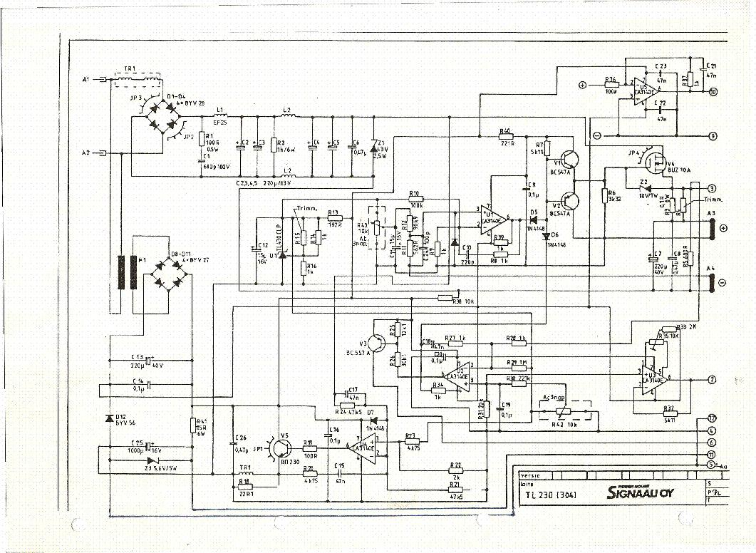 Signaali Oy Tl 230 304 0 30v 3a Power Supply Sch Service