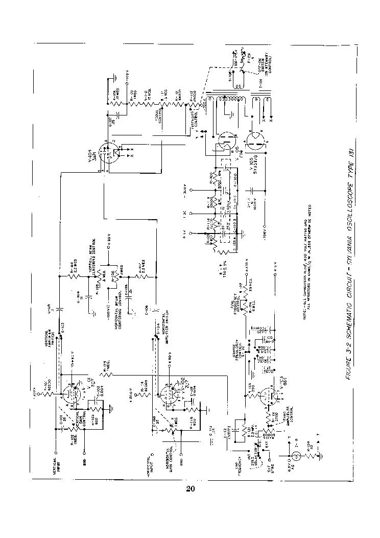 SYLVANIA 131 0,5VRMSINCH 100KHZ 3-INCH OSCILLOSCOPE SCH