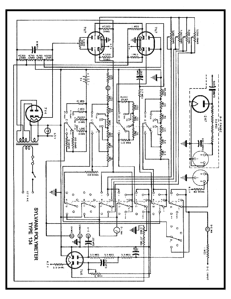 SYLVANIA 134 POLYMETER SCH Service Manual download